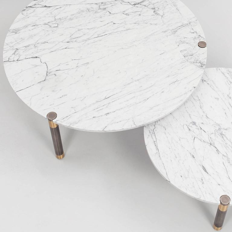 American Nova Round Marble Coffee Table by AVRAM RUSU STUDIO For Sale
