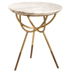 Atlas Brushed Brass Side Table by AVRAM RUSU STUDIO