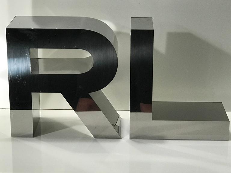 Vintage ralph lauren logo letters for sale at 1stdibs for Furniture 7 letters