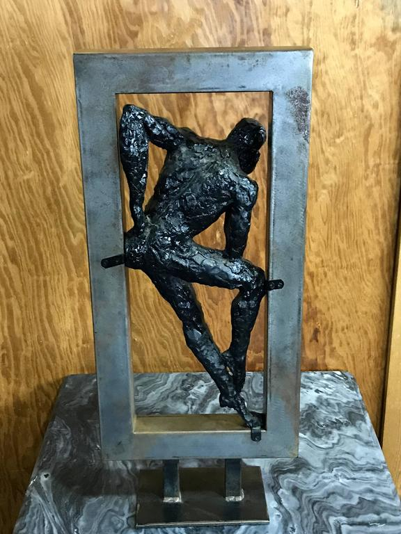 "Mid-Century Sculpture, ""Boxed Thinker"" 6"