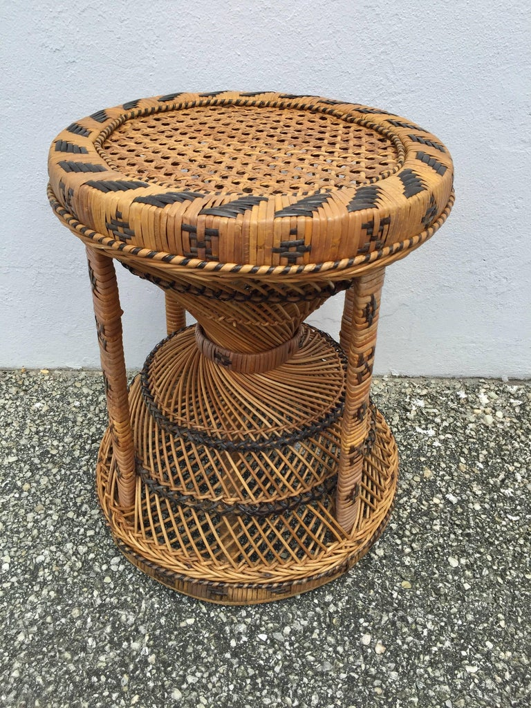 Iconic Rattan Two Color Emmanuel Peacock Chair And Garden
