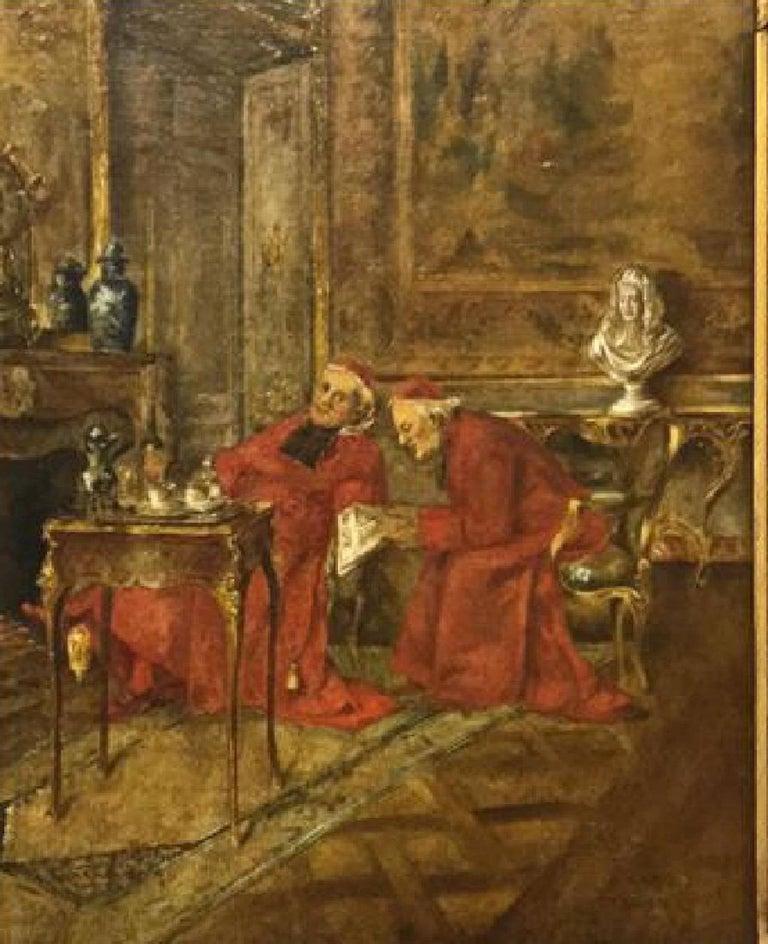 19th century interior painting of cardinals