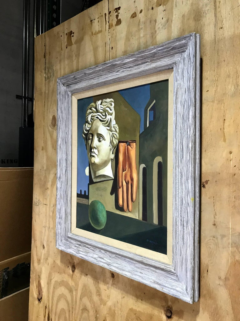 Midcentury Surrealist Still Life, After Gorgio De Chirico For Sale 1