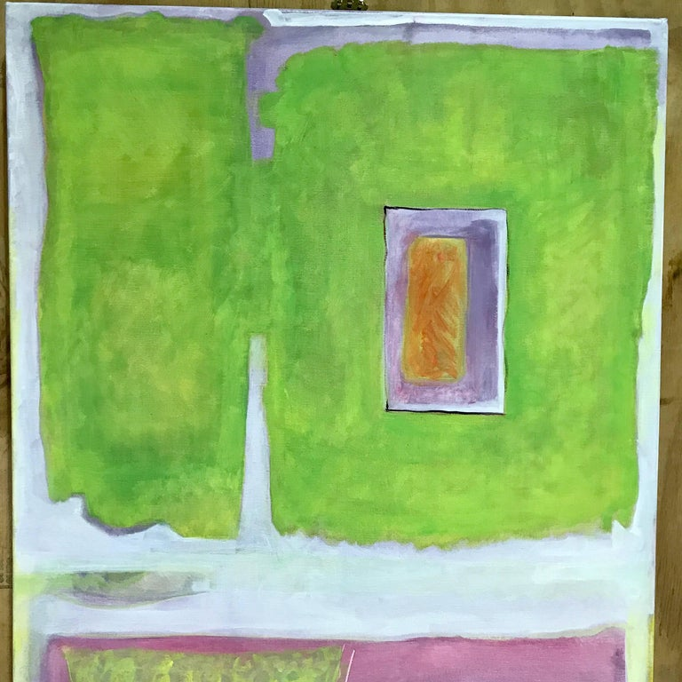 Modern Ann E. Friedlander, Untitled I Oil on Canvas For Sale