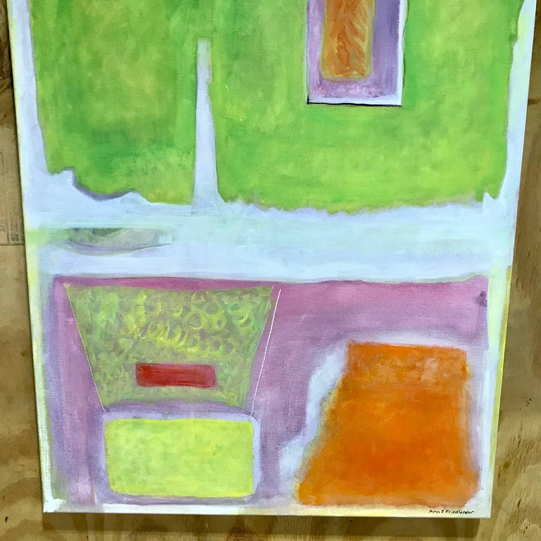Ann E. Friedlander, Untitled I Oil on Canvas In Excellent Condition For Sale In West Palm Beach, FL