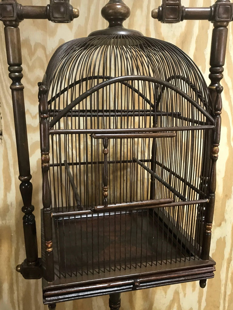 English Campaign Style Hanging Bird Cage At 1stdibs
