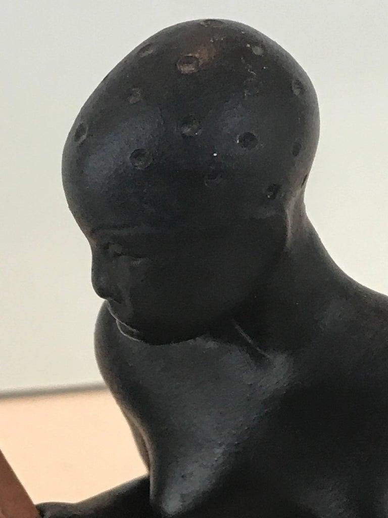 Mid-Century Modern  Hagenauer Style Nubian Sculpture, by Gmundner Keramik For Sale