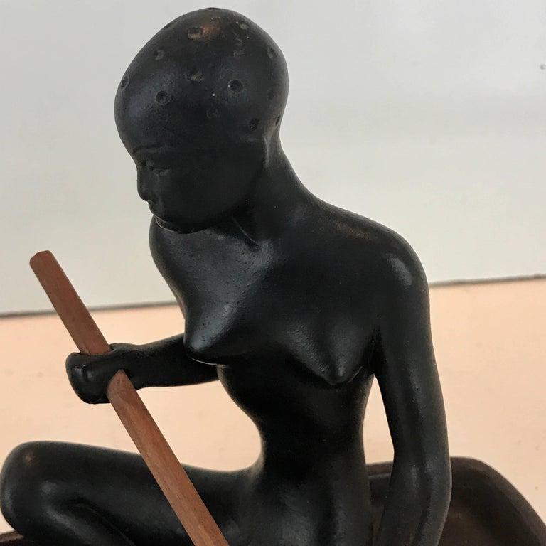 Austrian  Hagenauer Style Nubian Sculpture, by Gmundner Keramik For Sale