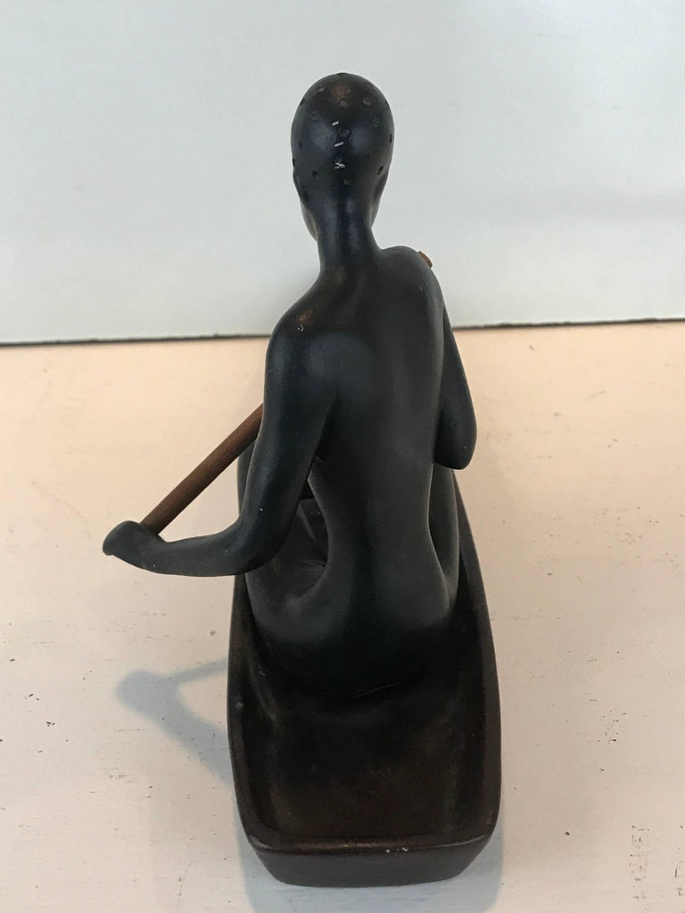 Hagenauer Style Nubian Sculpture, by Gmundner Keramik For Sale 1