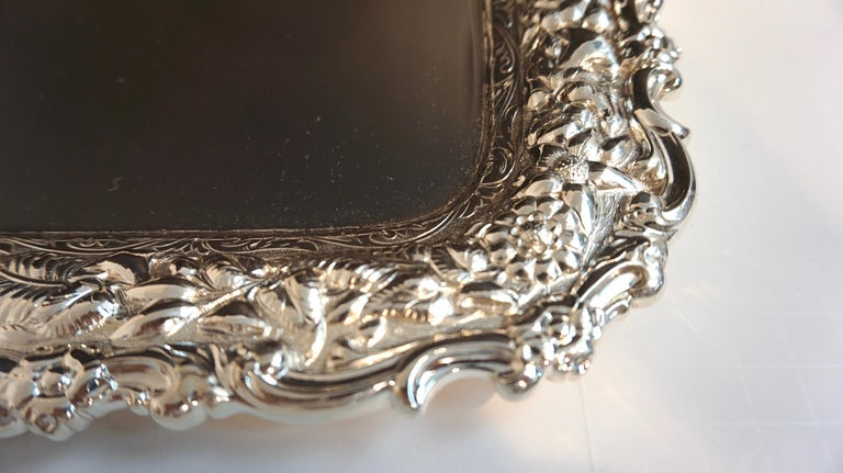 Antique Tiffany & Co. Silver Soldered Repouse Tray In Excellent Condition For Sale In West Palm Beach, FL