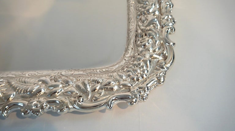 Antique Tiffany & Co. Silver Soldered Repouse Tray For Sale 1