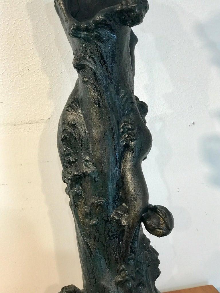 Monumental Art Nouveau Amphora Teplitz Mermaid Vase For Sale 6