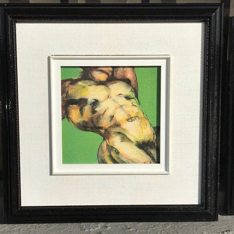 Two diminutive Giclee male nude studies Johanne Corno Johanne Corno, Canadian (1952-2016). Giclee on artist board Green background Image 6.5