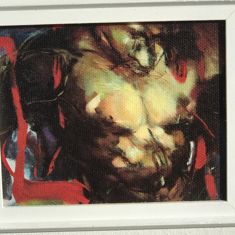 Two Diminutive Giclee Male Nude Studies by Johanne Corno In Good Condition For Sale In West Palm Beach, FL