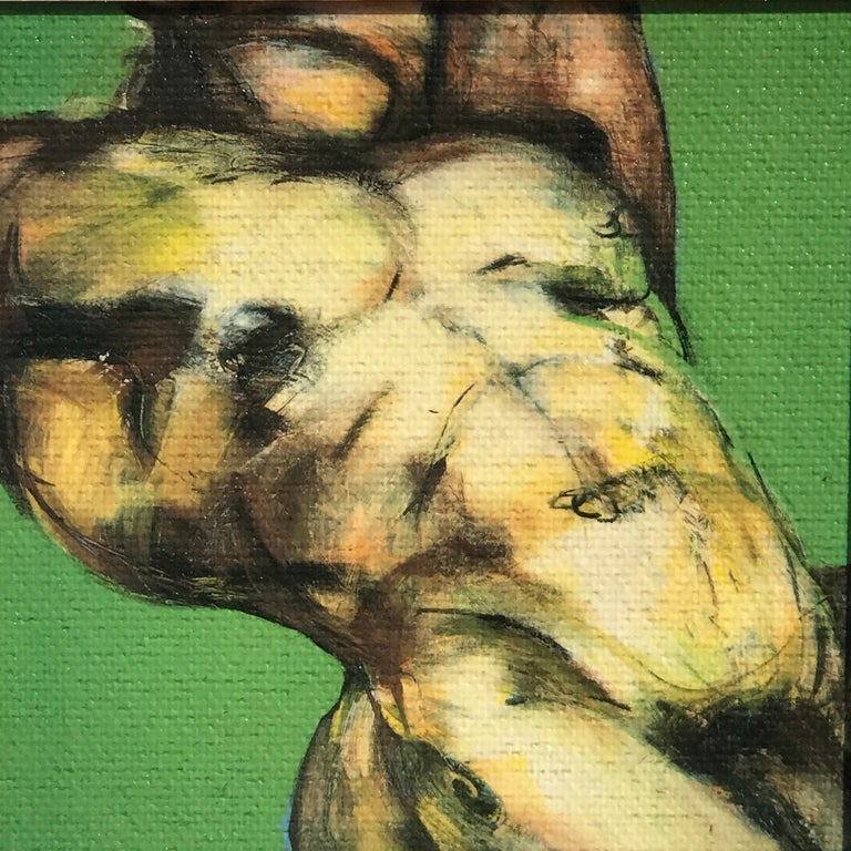 Contemporary Two Diminutive Giclee Male Nude Studies by Johanne Corno For Sale