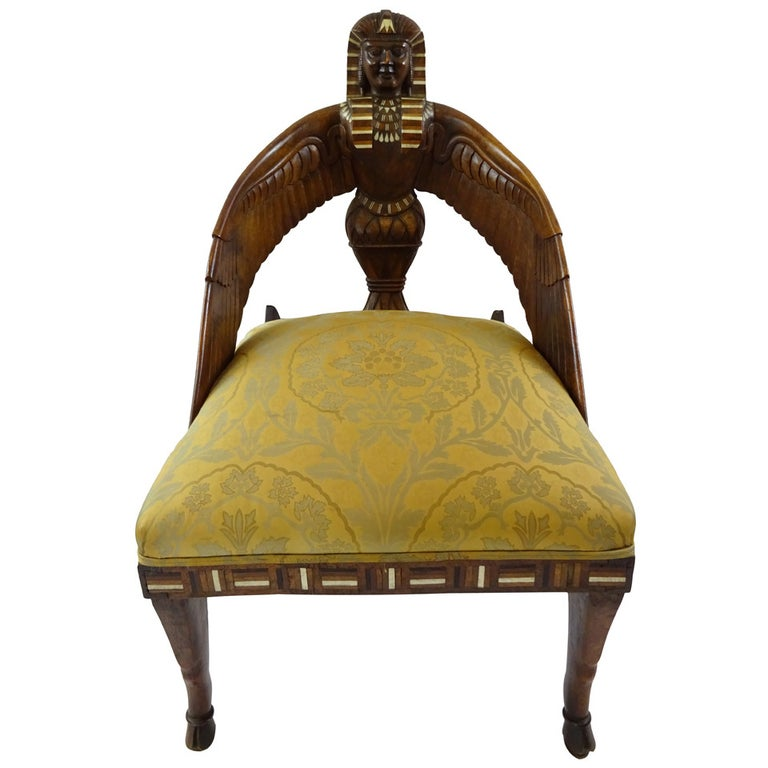 19th Century English Egyptian Revival Chair For Sale