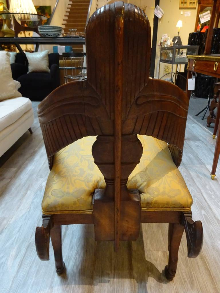 High Victorian 19th Century English Egyptian Revival Chair For Sale