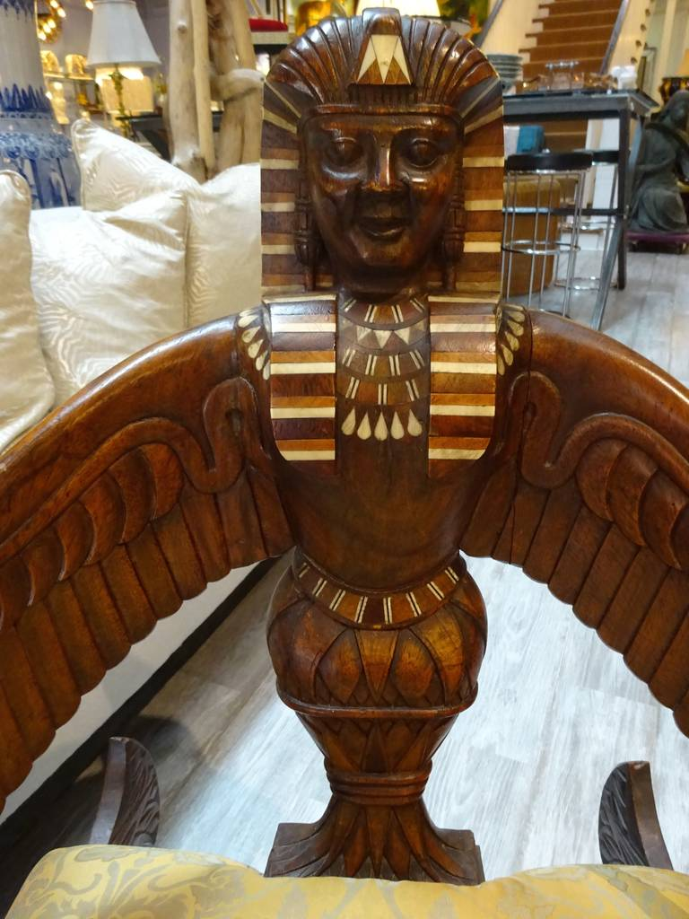 19th Century English Egyptian Revival Chair In Excellent Condition For Sale In West Palm Beach, FL