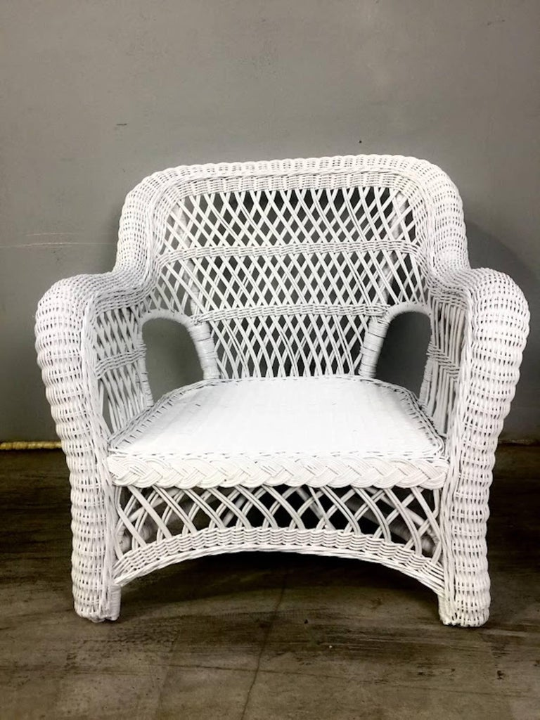 Antique Bar Harbor Three Piece Wicker Set Restored At 1stdibs