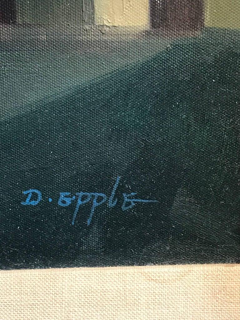 Canvas Midcentury Surrealist Still Life, After Gorgio De Chirico For Sale