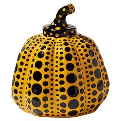 Yayoi Kusama, Yellow and Black Pumpkin, Miniature of the 1972, Original