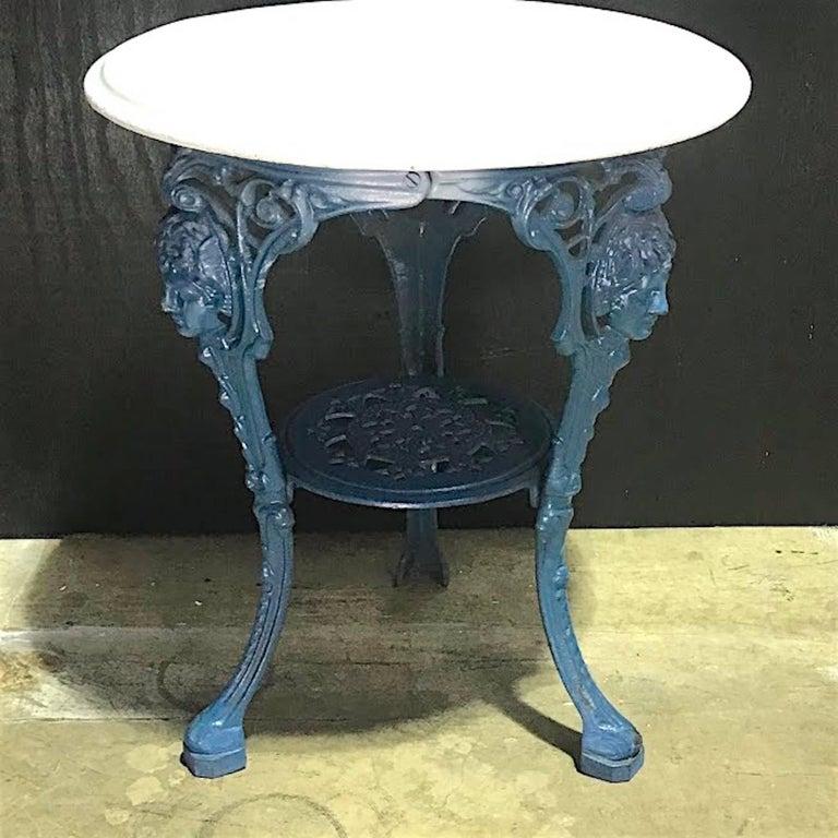 Outdoor Victorian Table: J.W. Fiske Victorian Cast Iron Garden Table, In Palm Beach