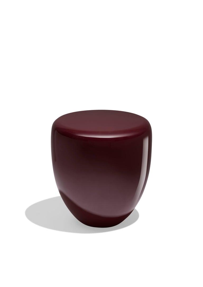 Dot, Side Table or Stool. Deep Garnet, by Reda Amalou Design, 21st Century 2