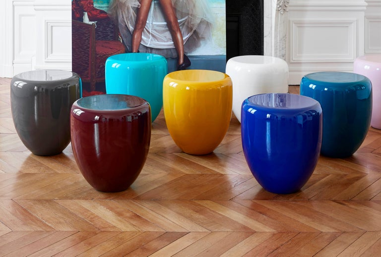 Dot, Side Table or Stool, Bohemian Blue, by Reda Amalou Design, 21st Century In Excellent Condition For Sale In Paris, FR