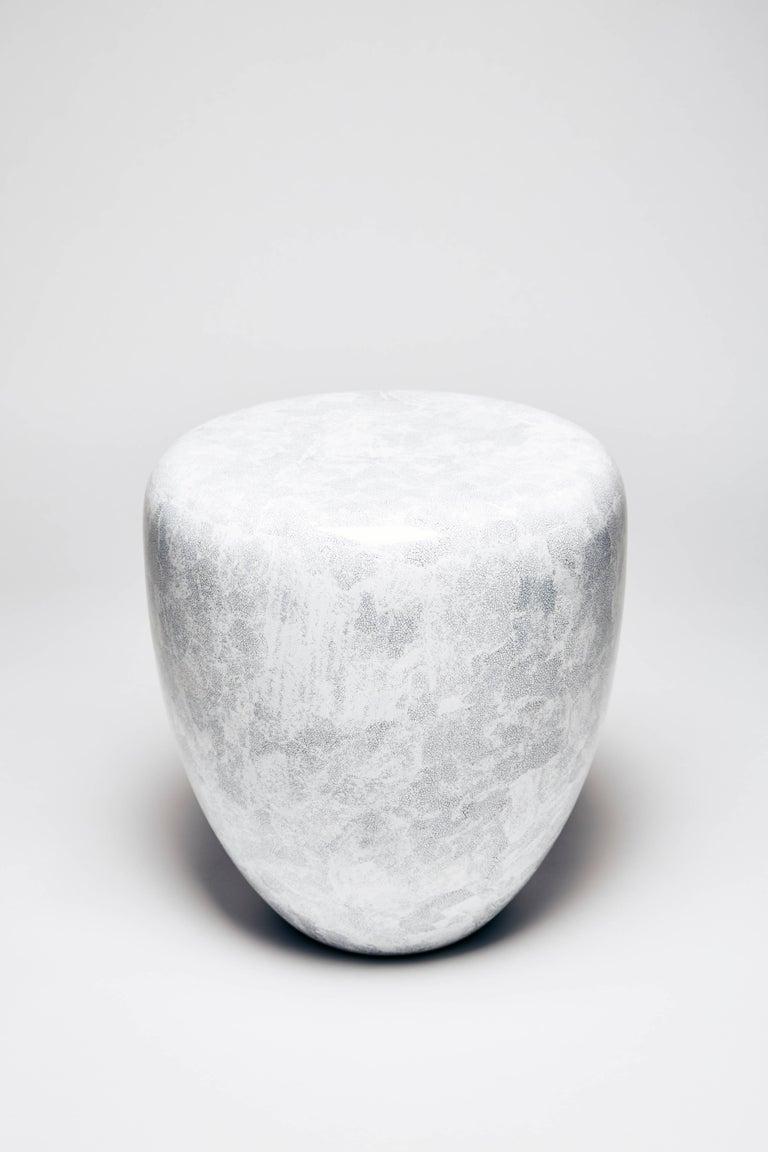 Vietnamese Dot, Side Table or Stool, White Eggshell by Reda Amalou Design, 21st Century For Sale