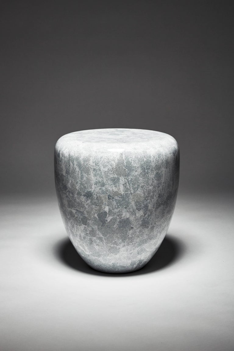 Contemporary Dot, Side Table or Stool, White Eggshell by Reda Amalou Design, 21st Century For Sale