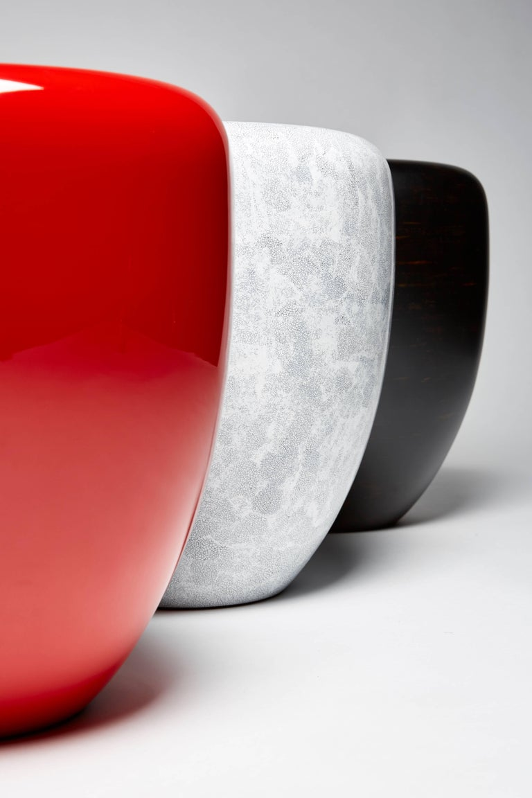 Dot, Side Table or Stool, White Eggshell by Reda Amalou Design, 21st Century For Sale 1