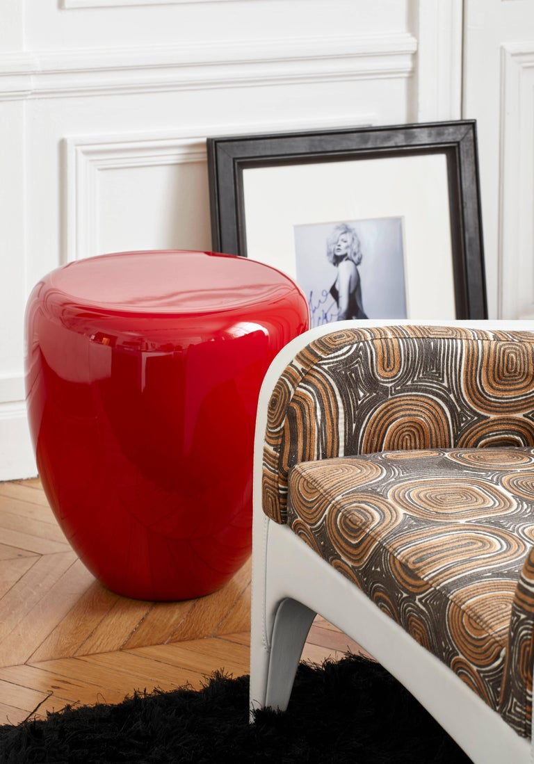 Dot, Side Table or Stool, White Eggshell by Reda Amalou Design, 21st Century For Sale 3