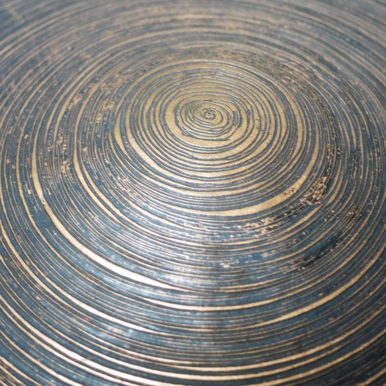 Hammered Lorenzo Burchiellaro Brutalist Copper Ball Sculpture For Sale