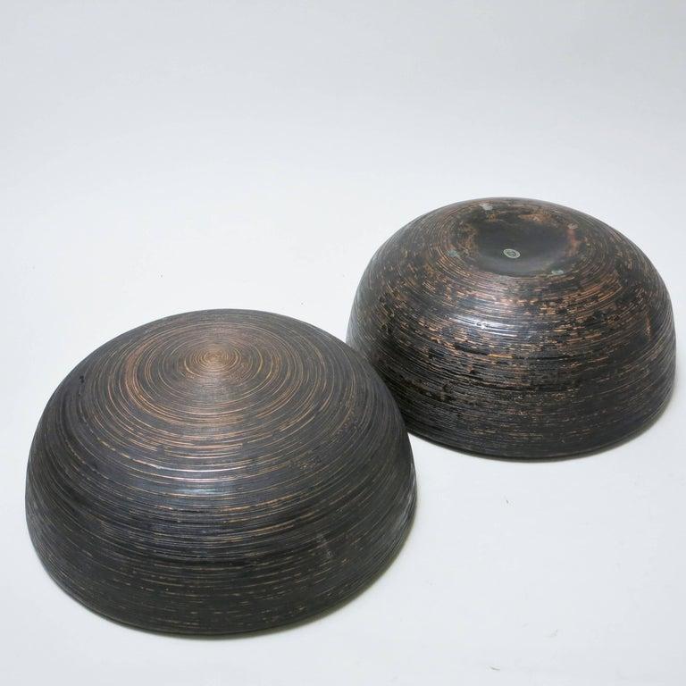 Mid-20th Century Lorenzo Burchiellaro Brutalist Copper Ball Sculpture For Sale