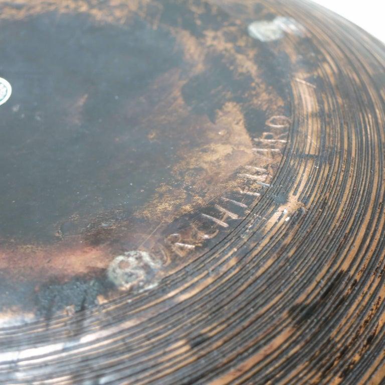 Metal Lorenzo Burchiellaro Brutalist Copper Ball Sculpture For Sale