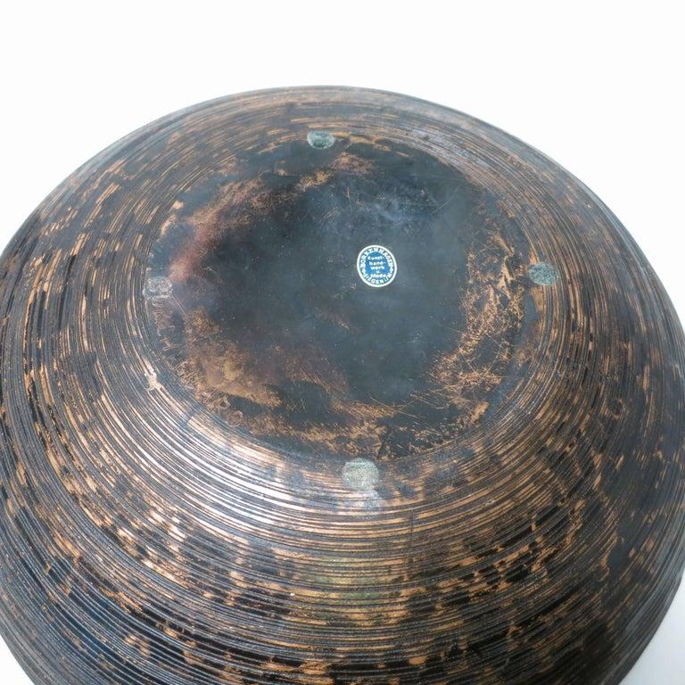 Lorenzo Burchiellaro Brutalist Copper Ball Sculpture For Sale 1