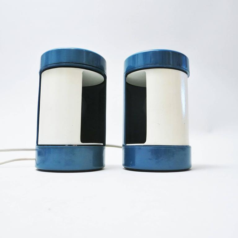 Italian Pair of Bedside Lamps Laura by Olaf von Bohr, 1970 For Sale