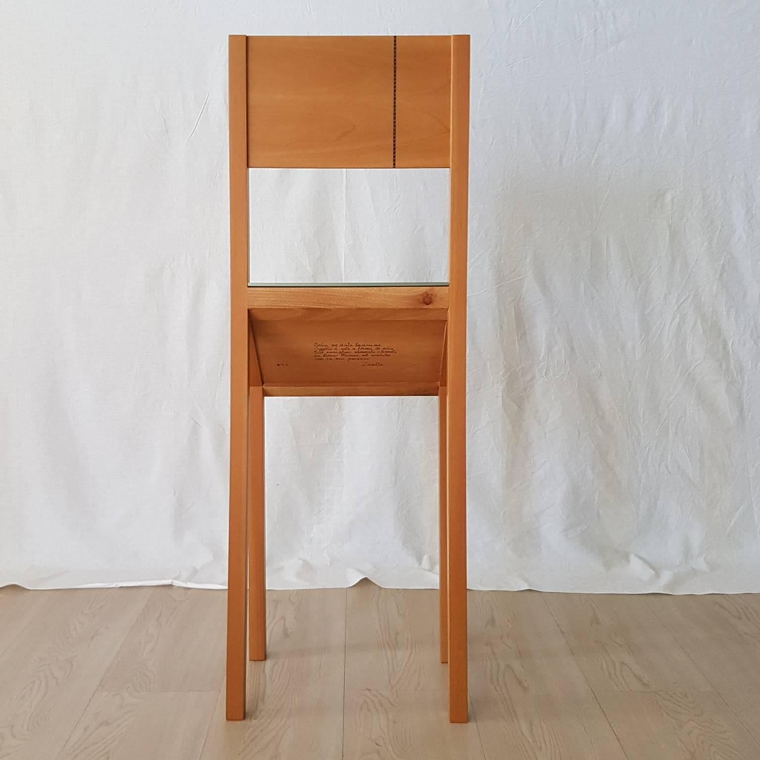 Superior Singer Chair Sculpture By Munari Zanotta In Wook With Marquetry Late 20  Century At 1stdibs