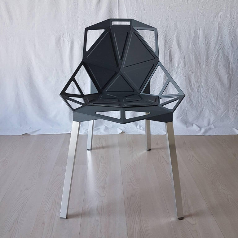 contemporary dark grey chair by konstantin grcic in aluminum 21st century for sale at 1stdibs. Black Bedroom Furniture Sets. Home Design Ideas