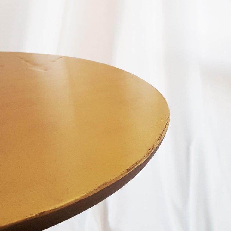 M. Oppenheim Traccia Gold Leaf Italian Simon Gavina Coffee Table with Bronze Leg For Sale 9