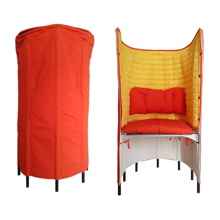 Contemporary Armchair By Gaetano Pesce In Orange Yellow Canvas 21th ...