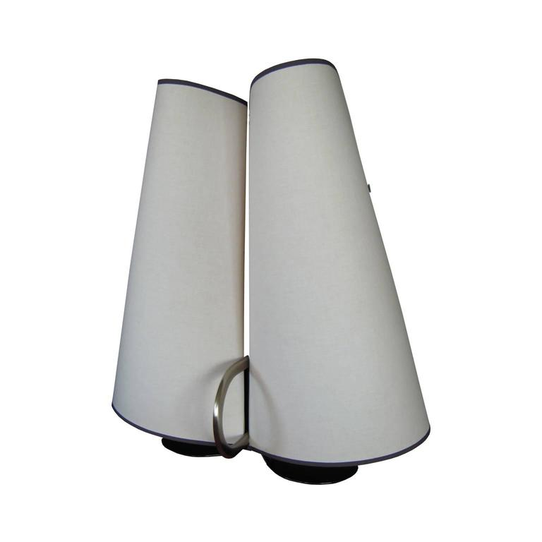 Vintage White Table Lamp by Tobia&Afra Scarpa / Flos  Late 20th Century in Linem