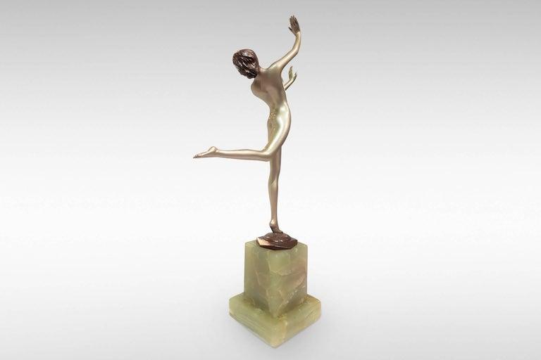20th Century 'Freedom', Art Deco Silvered Bronze Figurine by Josef Lorenzl For Sale