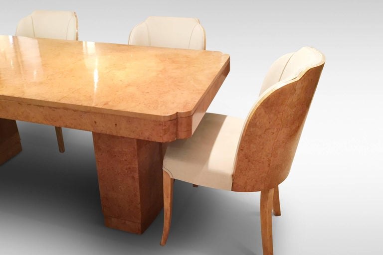 Original Art Deco Cloud Dining Table And Chairs By Epstein