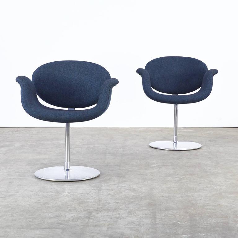 1970s pierre paulin f163 little tulip fauteuils for. Black Bedroom Furniture Sets. Home Design Ideas