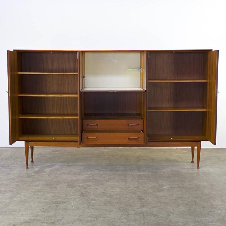 Teak Kast Tv.1960s Teak Cabinet Attributed To Arne Wahl Iversen For Vinde For