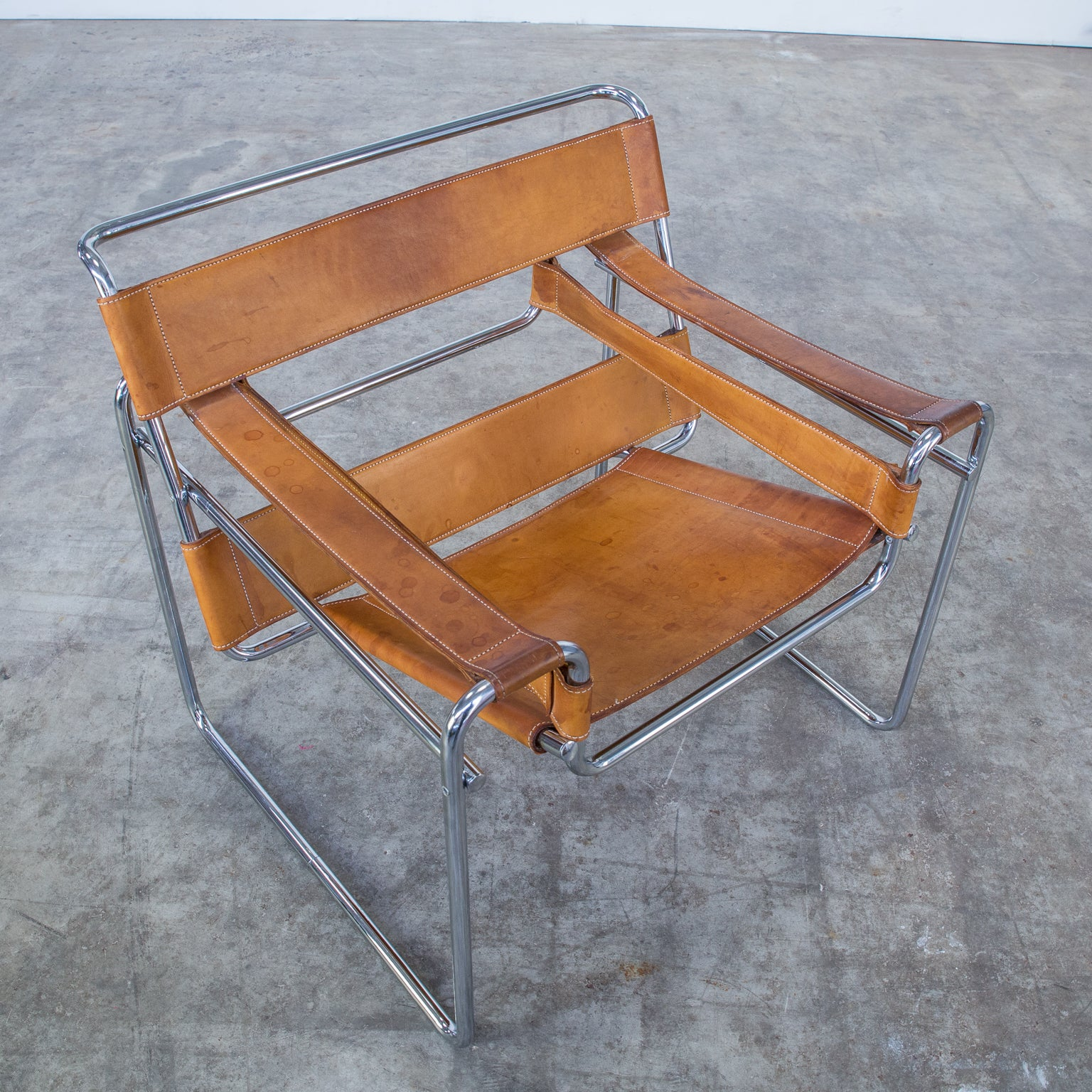 Marcel Breuer Wassily B3 Chair For Gavina Italy Set Of