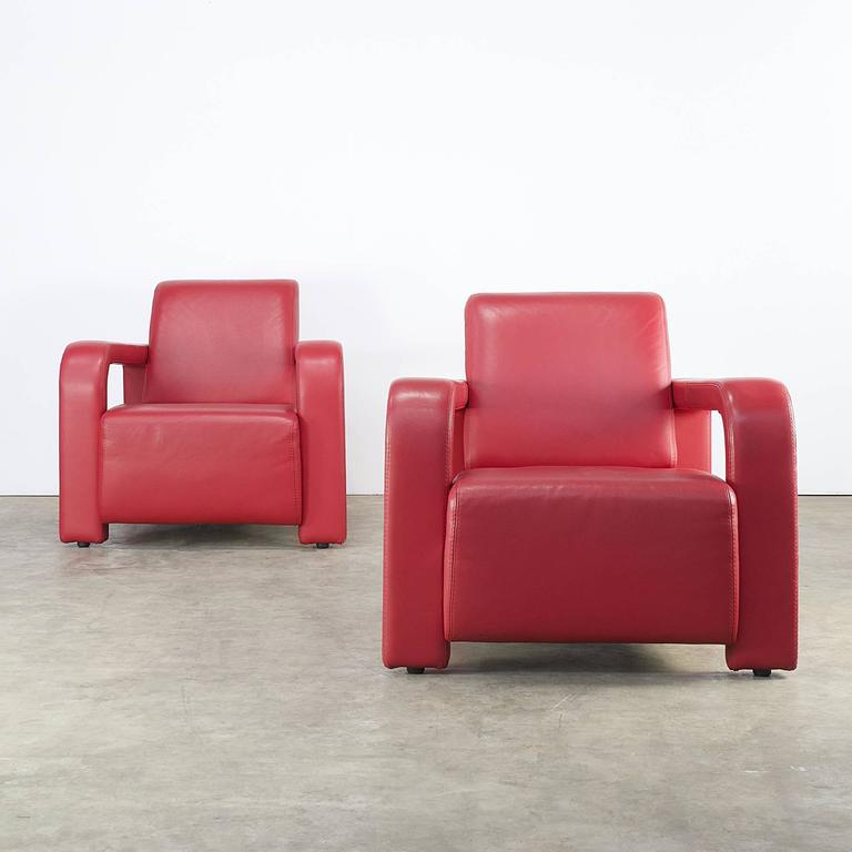 1980s comfortable lounge chair set of two for marinelli for Comfortable chairs for sale