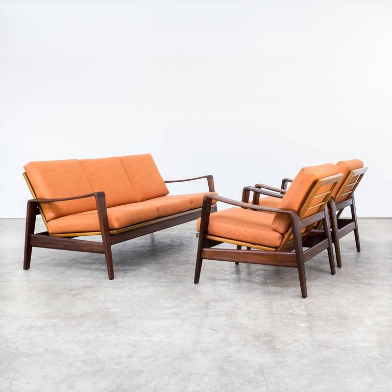 1960s arne wahl iversen seating group for komfort for sale at 1stdibs. Black Bedroom Furniture Sets. Home Design Ideas