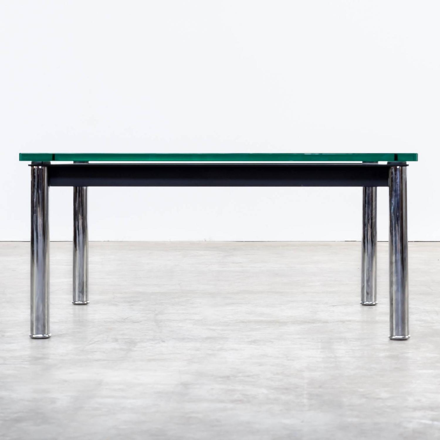 1980s Le Corbusier LC10P, No 3965 Coffee Table Glass For Cassina At 1stdibs